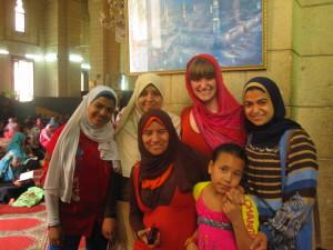 Fotoshooting in der Moschee in Alexandria. no cc