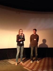 Die 14km-Mitarbeiter Carolin Bannorth und Andreas Fricke