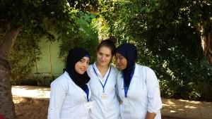 Mit den anderen marokkanischen Praktikantinen